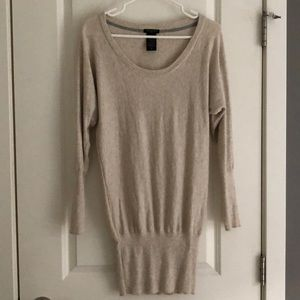 Aritzia Talula Cashmere Oatmeal Sweater Dress